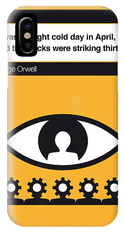 George IPhone X Case featuring the digital art No008 My 1984 Book Icon Poster by Chungkong Art