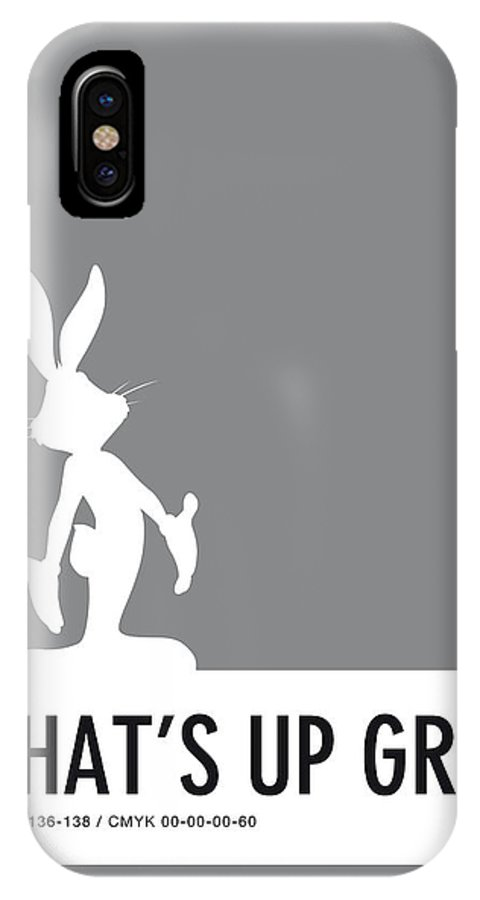 Looney IPhone X Case featuring the digital art No06 My Minimal Color Code Poster Bugs by Chungkong Art