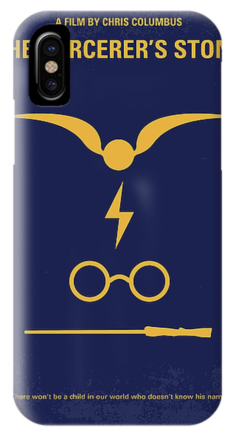 Harry IPhone X Case featuring the digital art No101 My Harry Potter Minimal Movie Poster by Chungkong Art