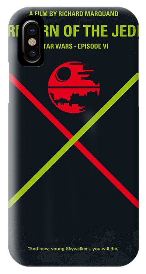 Star IPhone X Case featuring the digital art No156 My Star Wars Episode Vi Return Of The Jedi Minimal Movie Poster by Chungkong Art
