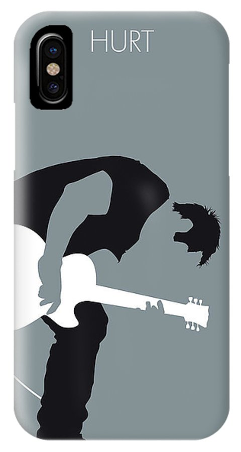 Nine IPhone X Case featuring the digital art No197 My Nine Inch Nails Minimal Music Poster by Chungkong Art