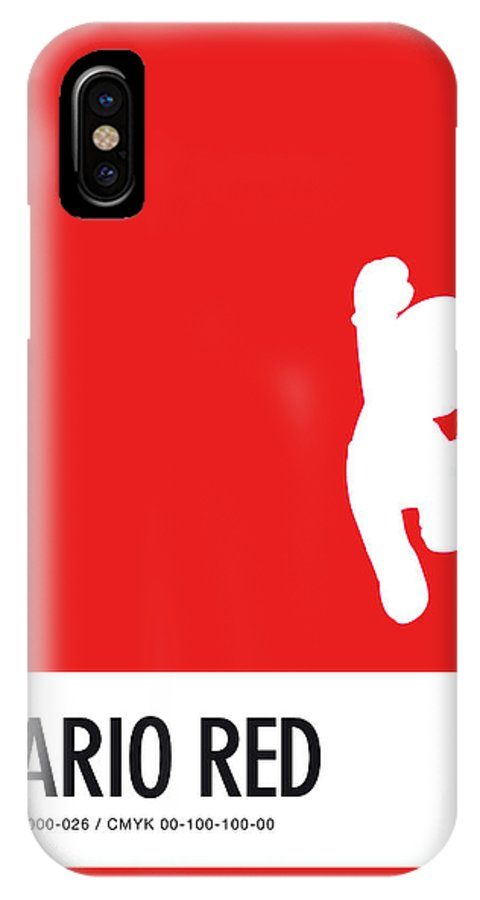 Mario IPhone X Case featuring the digital art No33 My Minimal Color Code Poster Mario by Chungkong Art