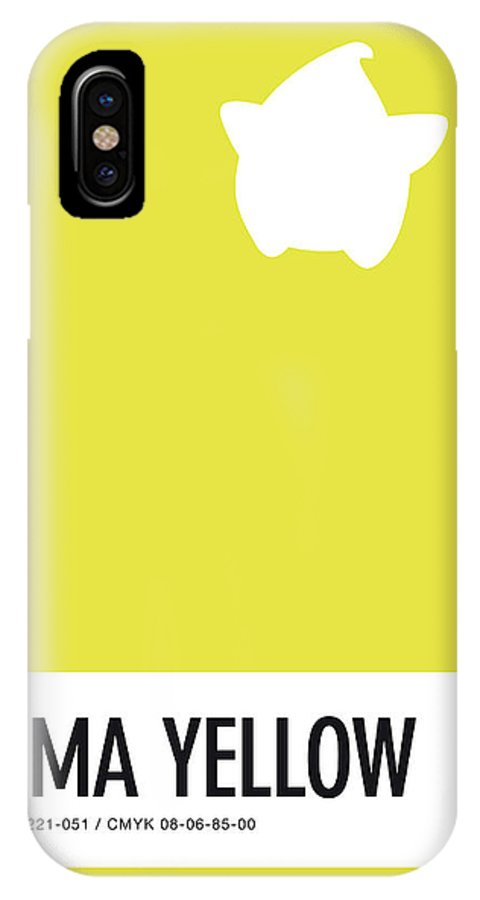 Mario IPhone X Case featuring the digital art No40 My Minimal Color Code Poster Luma by Chungkong Art