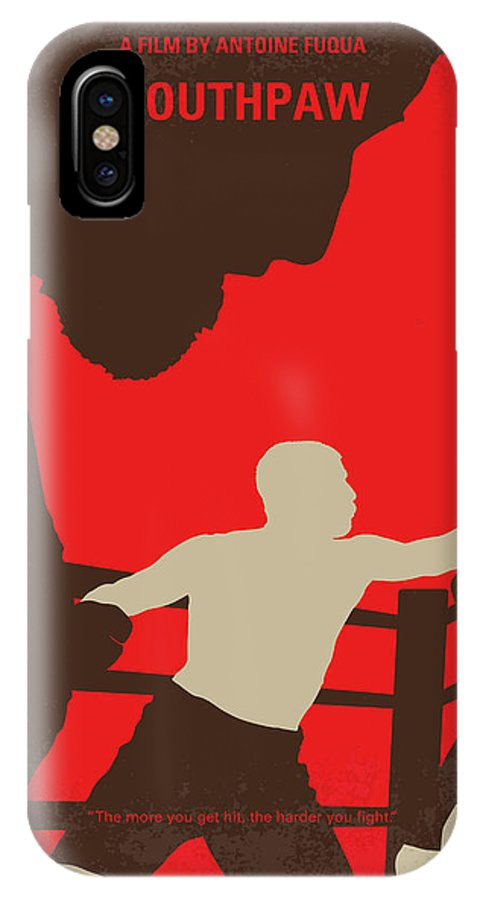Southpaw IPhone X Case featuring the digital art No723 My Southpaw Minimal Movie Poster by Chungkong Art