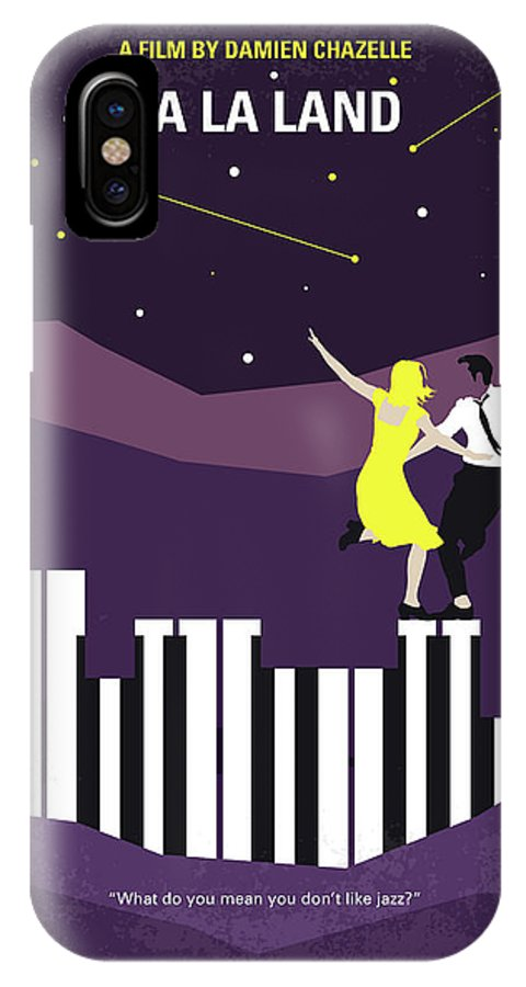 La IPhone X Case featuring the digital art No756 My La La Land Minimal Movie Poster by Chungkong Art