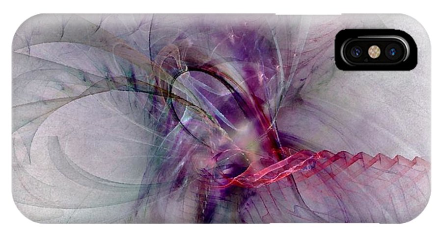 Spiritual IPhone Case featuring the digital art Nobility Of Spirit - Fractal Art by NirvanaBlues