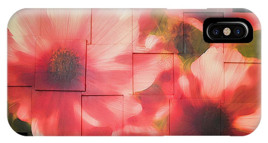Flower IPhone Case featuring the sculpture Nocturnal Pinks Photo Sculpture by Michael Bessler
