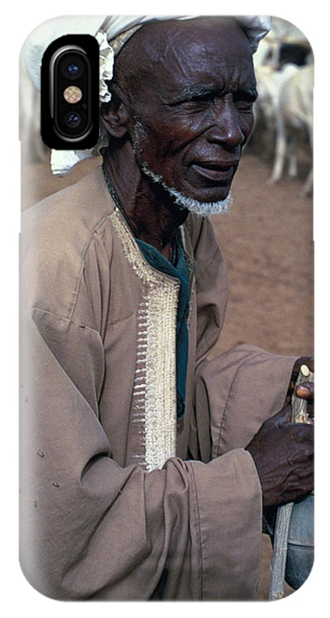 Turban IPhone Case featuring the photograph Nomad In Senegal by Carl Purcell