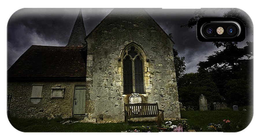 Church IPhone X / XS Case featuring the photograph Norman Church At Lissing Hampshire England by Sheila Smart Fine Art Photography