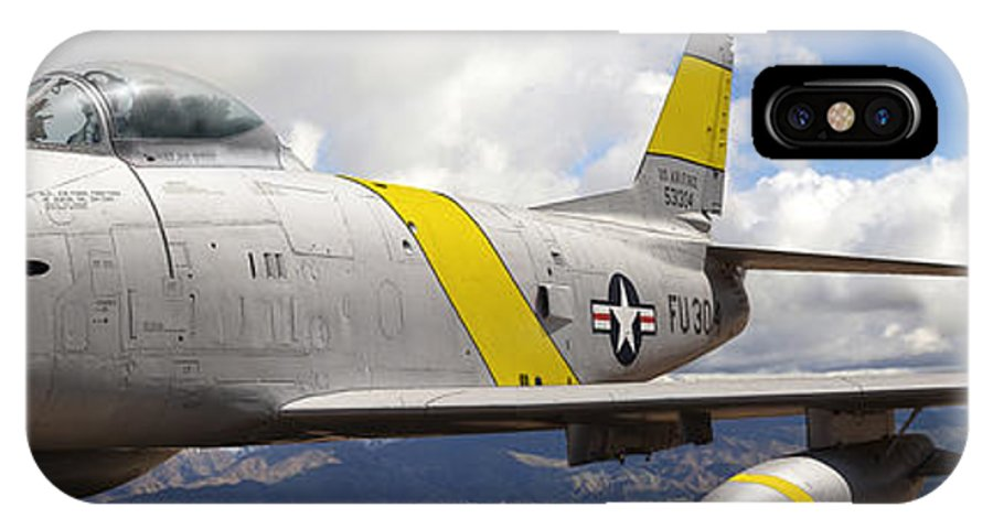 F-86 Sabre IPhone X Case featuring the photograph North American F-86 Sabre by Larry McManus
