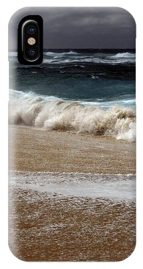 IPhone X Case featuring the photograph North Beach, Oahu V by Kenneth Campbell