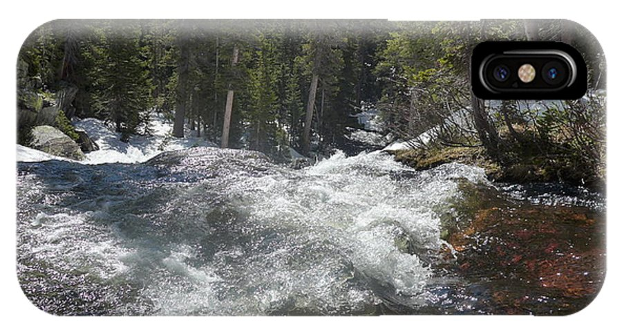 North Fork Middle Boulder Creek River Landscape IPhone X Case featuring the photograph North Fork Middle Boulder Creek by John Mallonee