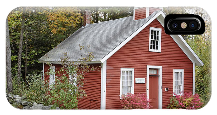 New Hampshire IPhone X / XS Case featuring the photograph North District School House - Dorchester New Hampshire by Erin Paul Donovan