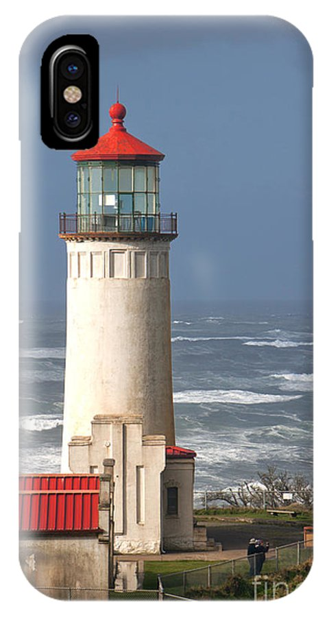 Lighthouse IPhone X / XS Case featuring the photograph North Head by Larry Keahey