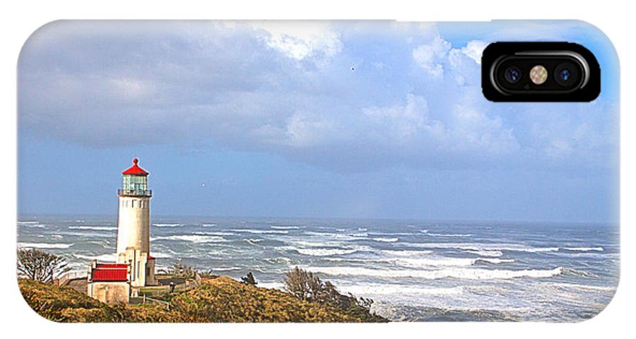 Lighthouse IPhone X / XS Case featuring the photograph North Head Lighthouse by Larry Keahey