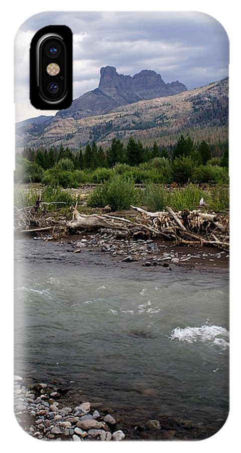 Rivers IPhone X Case featuring the photograph North Of Dubois Wy by Marty Koch