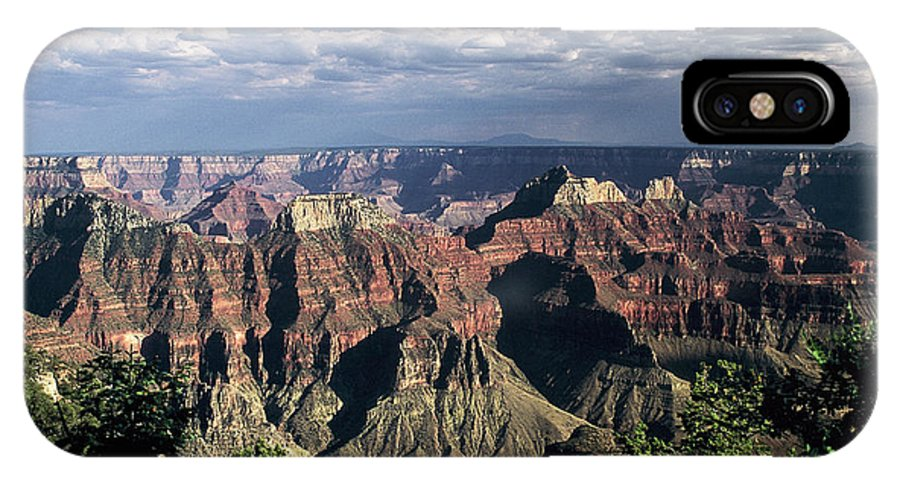 Grand Canyon; National Parks IPhone X Case featuring the photograph North Rim by Kathy McClure