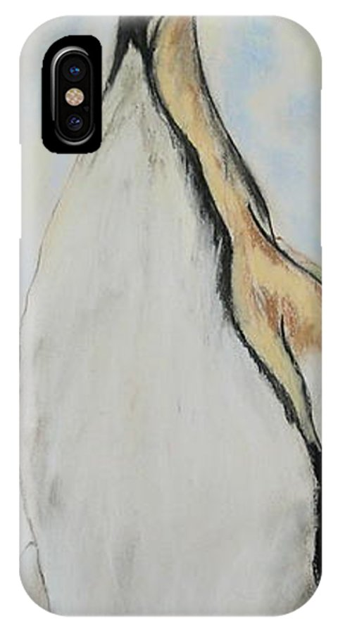 Penguin IPhone X Case featuring the drawing Northern Bliss by Cori Solomon
