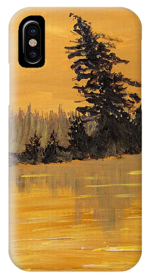 Northern Ontario IPhone X Case featuring the painting Northern Ontario Three by Ian MacDonald