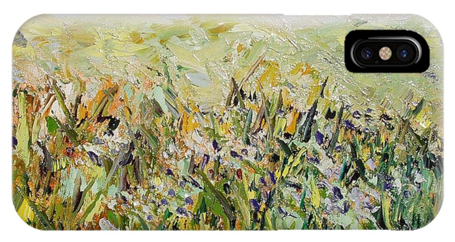 Field Paintings IPhone Case featuring the painting Nose Hill by Seon-Jeong Kim