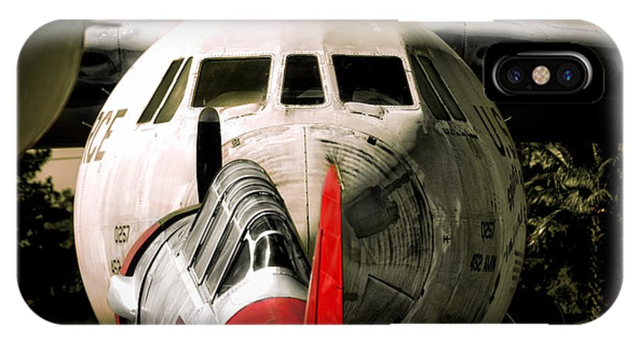 Aircraft IPhone X Case featuring the photograph Nose To Nose by Douglas Craig