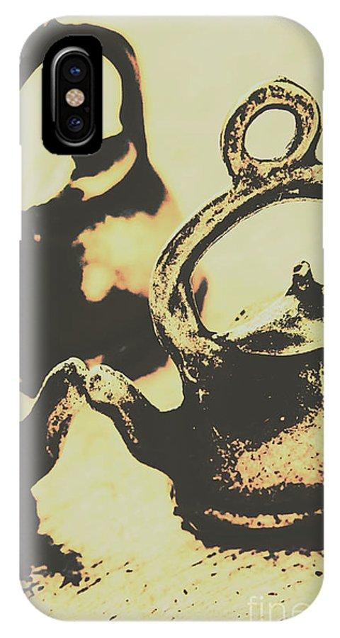 Antique IPhone X Case featuring the photograph Nostalgic Tea Break by Jorgo Photography - Wall Art Gallery