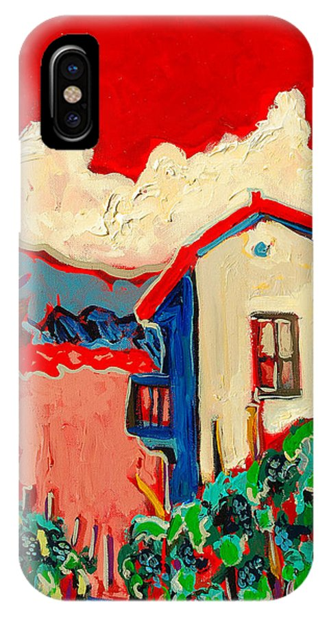 Tuscany IPhone X Case featuring the painting Notare by Kurt Hausmann