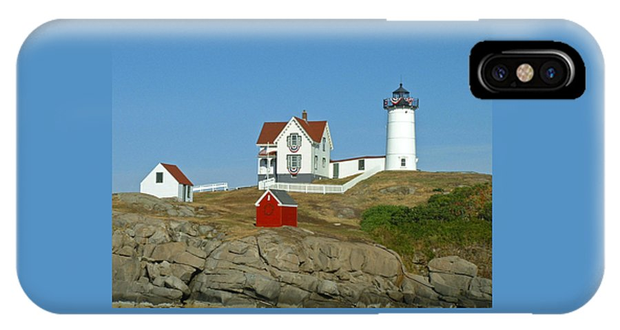 Nubble IPhone Case featuring the photograph Nubble Light by Margie Wildblood