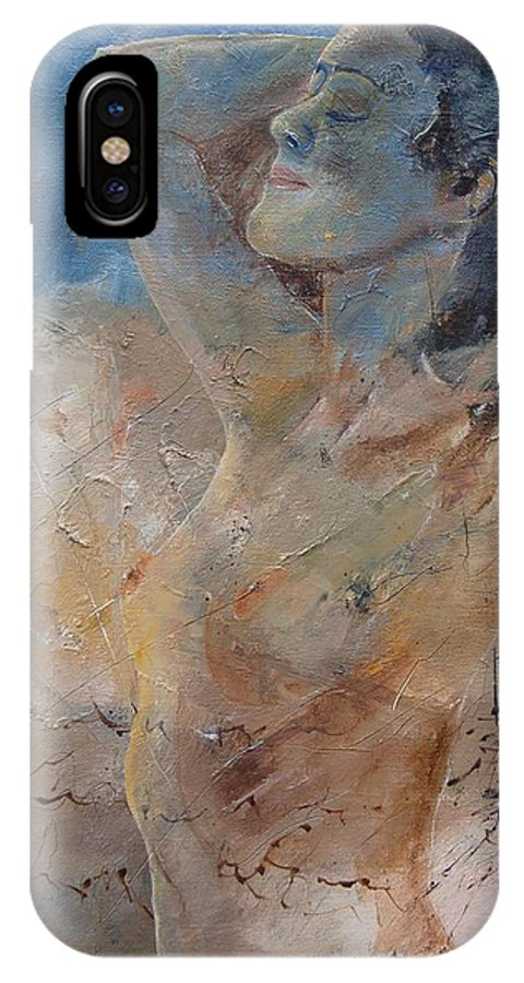 Nude IPhone X Case featuring the painting Nude 0508 by Pol Ledent