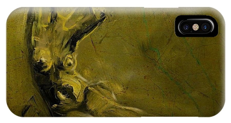 Nude IPhone X / XS Case featuring the painting Nude 10jan2016 by Jim Vance
