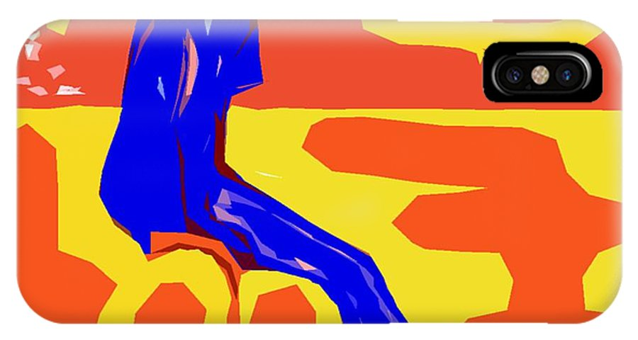 Abstract IPhone X Case featuring the painting Nude 16 by Patrick J Murphy