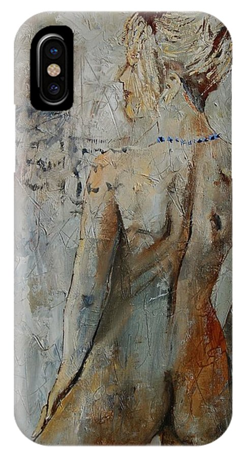 Girl IPhone X Case featuring the painting Nude 459020 by Pol Ledent