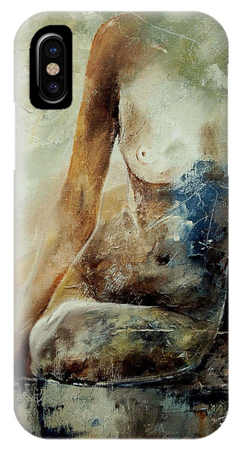 Nude IPhone X Case featuring the painting Nude 560408 by Pol Ledent
