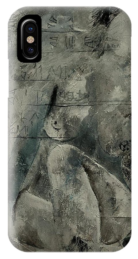Nude IPhone X Case featuring the painting Nude 560845 by Pol Ledent