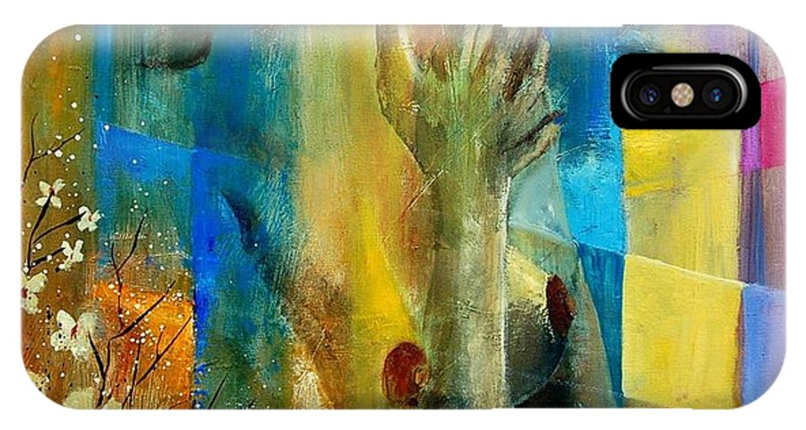 Nude IPhone X Case featuring the painting Nude 5609082 by Pol Ledent