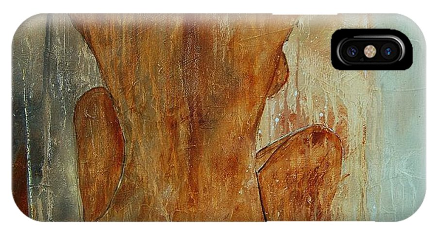 Nude IPhone X Case featuring the painting Nude 56901101 by Pol Ledent