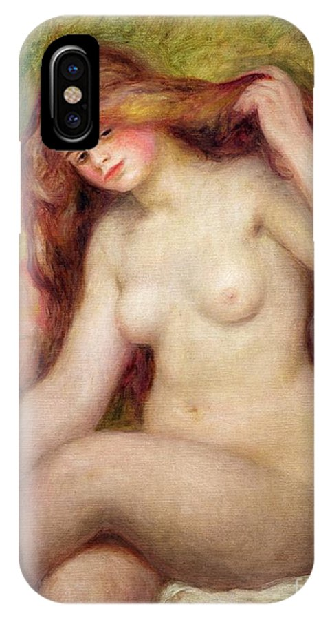 Nude IPhone X Case featuring the painting Nude by Renoir