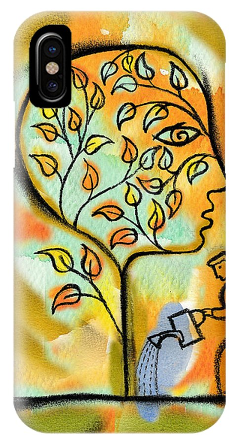 Agriculture Caring Color Image Community Cultivating Family Tree Full Length Genealogy Growing Growth Head And Shoulders Heritage Humanity Illustration Illustration And Painting Man Medium Group Of People Mid Adult Nurturing Outdoors People Profile Responsibility Side View Standing Together Tree Vertical Watercolor Watering Watering Can Woman 30's Accountable Care Culture Developing Development Drawing Farming Female Full Body Group Grow Jointly Male Mankind Nurture Outside Painting Person IPhone X Case featuring the painting Nurturing And Caring by Leon Zernitsky