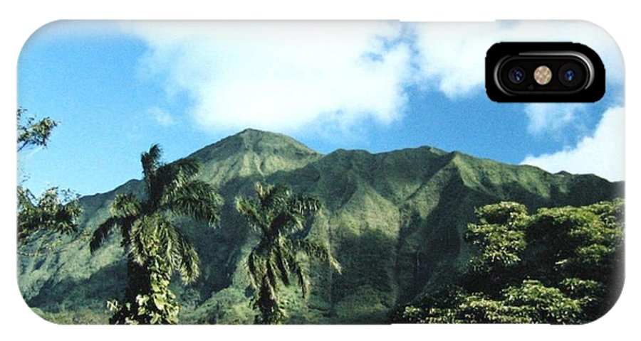 1986 IPhone X Case featuring the photograph Nuuanu Pali by Will Borden
