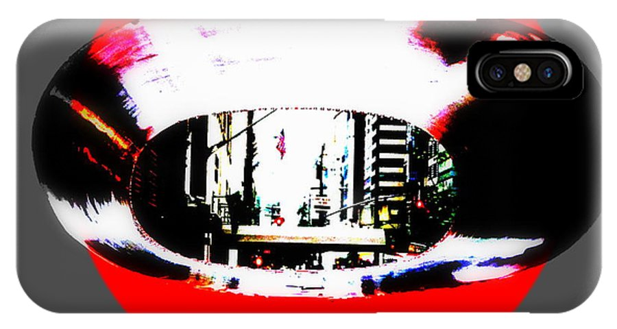 Manhattan IPhone X Case featuring the photograph Ny 57th Street Fisheye by Funkpix Photo Hunter