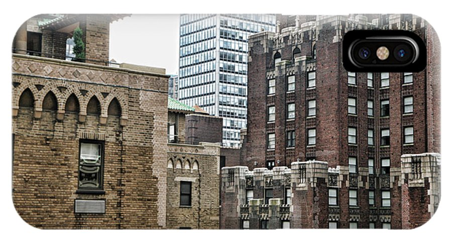 Nyc IPhone X Case featuring the photograph Ny Brick 1 by Chuck Kuhn