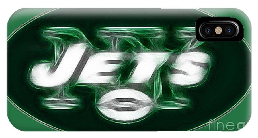 Ny Jets Logo IPhone X Case featuring the photograph Ny Jets Fantasy by Paul Ward