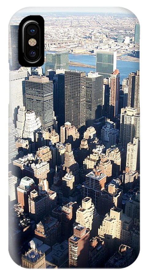 Nyc IPhone X Case featuring the photograph Nyc 4 by Anita Burgermeister
