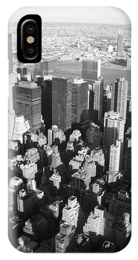 Nyc IPhone X Case featuring the photograph NYC bw by Anita Burgermeister