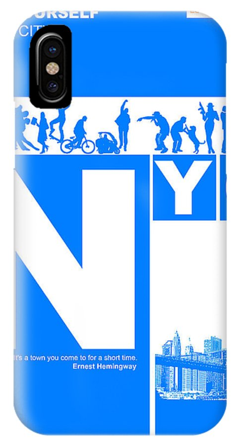 New York IPhone X Case featuring the digital art Nyc Find Yourself In The City by Naxart Studio