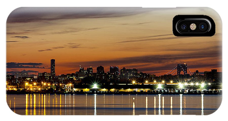 Night IPhone X Case featuring the photograph Nyc On A Still Night by Claudius Cazan