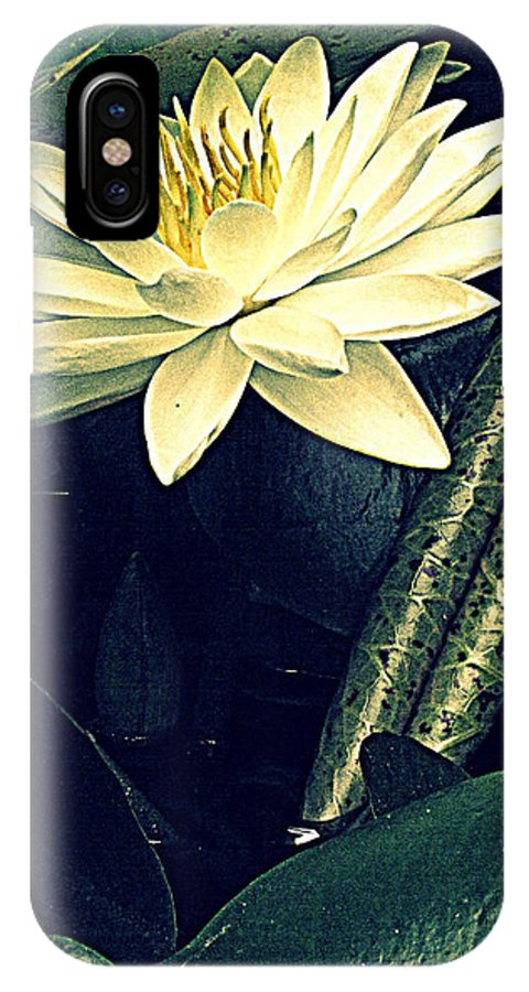 Waterlily IPhone X Case featuring the photograph Nymphaea by Jessica Brawley
