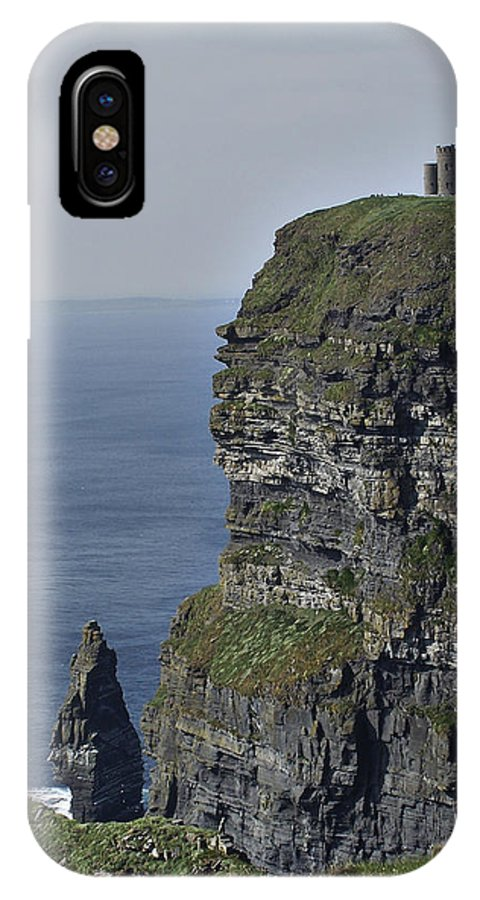 Irish IPhone X Case featuring the photograph O Brien's Tower At The Cliffs Of Moher Ireland by Teresa Mucha