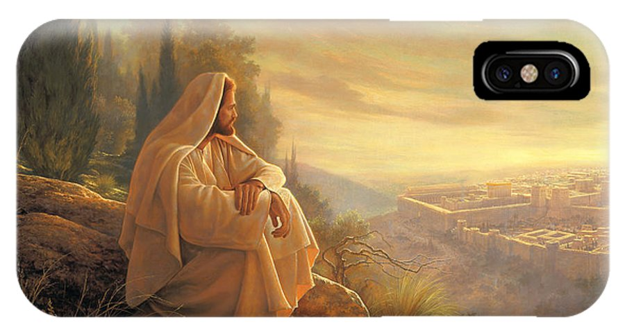 Esus IPhone X Case featuring the painting O Jerusalem by Greg Olsen