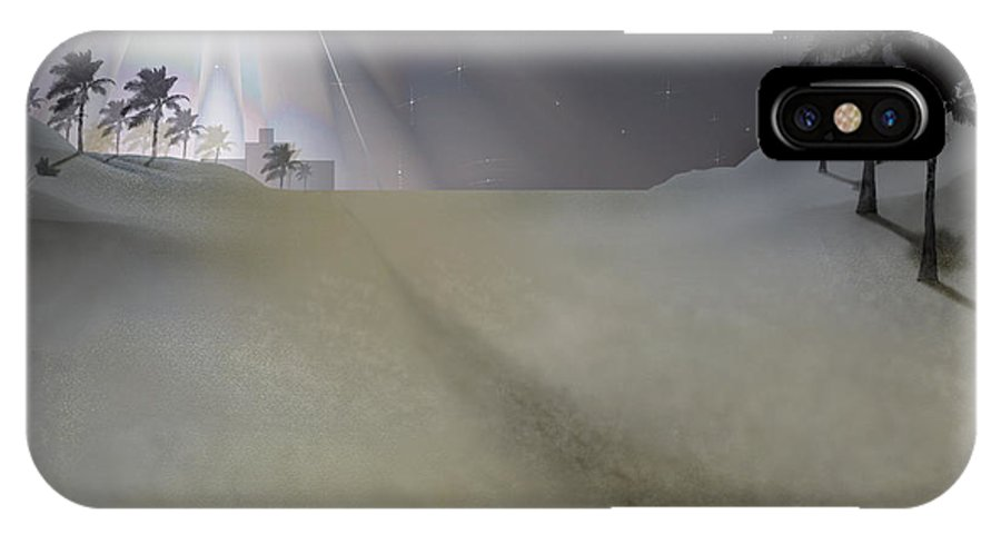 Brian Wallace IPhone X Case featuring the digital art O Little Town by Brian Wallace